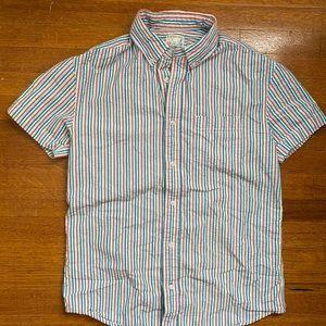 J. Crew Crewcuts Boys Seersucker 100% Cotton Shirt